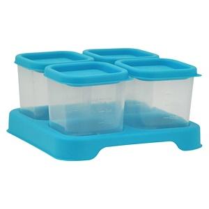 Айплэй ИНк, Green Sprouts, Fresh Baby Food Unbreakable Cubes, Aqua Set, 4 Pack — 4 oz (118 ml) Each отзывы