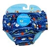 i play Inc., Swimsuit Diaper, Reusable & Absorbent, 24 Months, Royal Blue Sea Friends, 1 Diaper