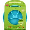 i play Inc., Green Sprouts, обучающая тарелка, голубая, для малышей от 12 месяцев, 10 унций, (296 мл)