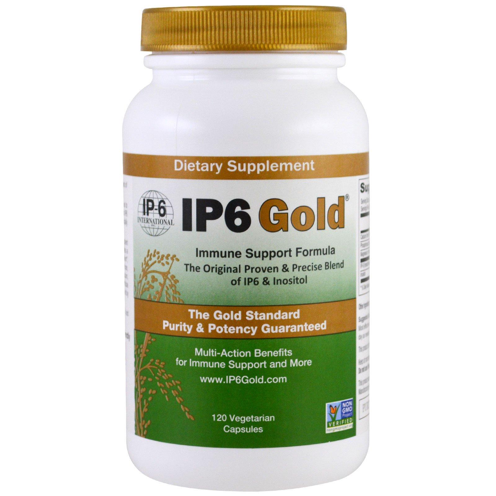 IP-6 International, IP6 Gold, формула для поддержки иммунитета, 120 капсул в растительной оболочке