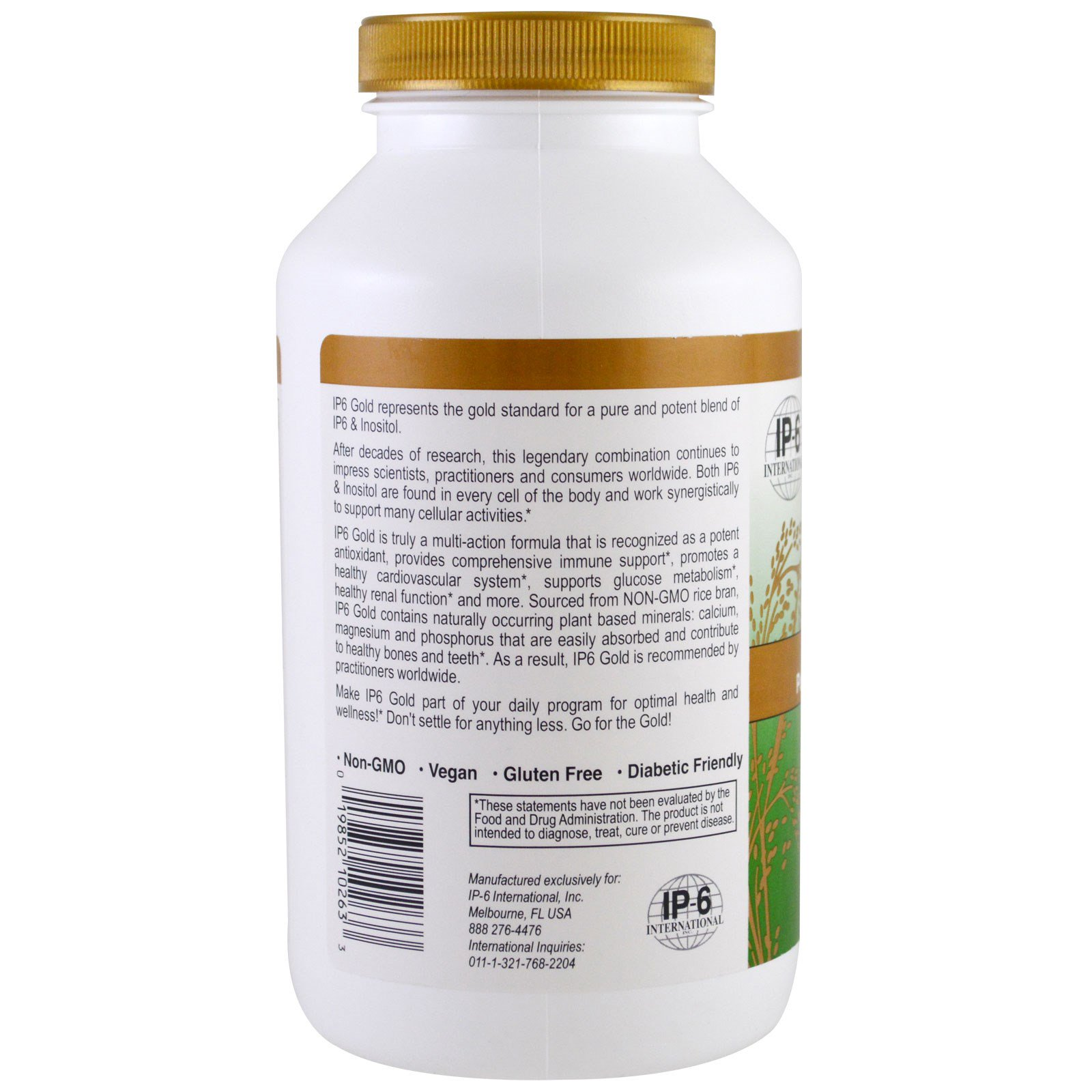 IP-6 International, IP6 Gold, Immune Support Formula, 240