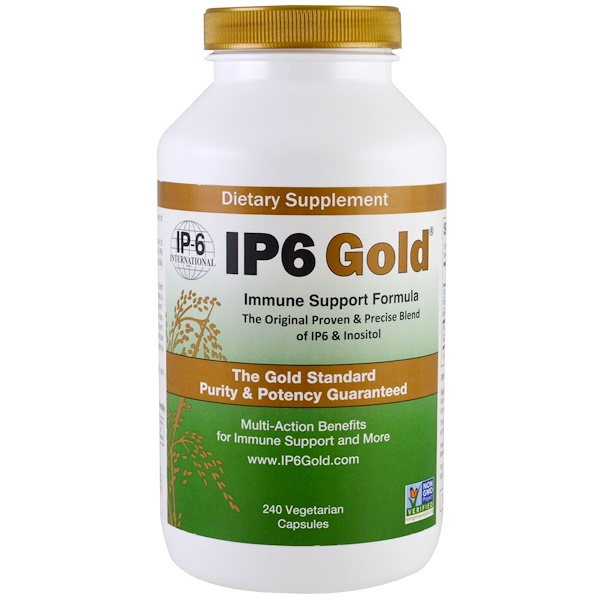IP-6 International, IP6 Gold, Immune Support Formula, 240 Vegetarian Capsules