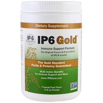 Фото - Порошок IP6 Gold, формула иммунной поддержки со вкусом тропических фруктов, 14,6 унции elastijoint формула для поддержки суставов со вкусом фруктового пунша 384 г 13 54 унции