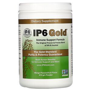 ИП 6 интернатионал, IP6 Gold, Immune Support Formula Powder, Mango Passionfruit Flavor, 412 gm отзывы покупателей