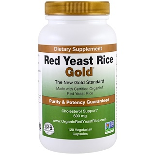 IP-6 International, Red Yeast Rice, Gold, 600 mg, 120 Vegetarian Capsules