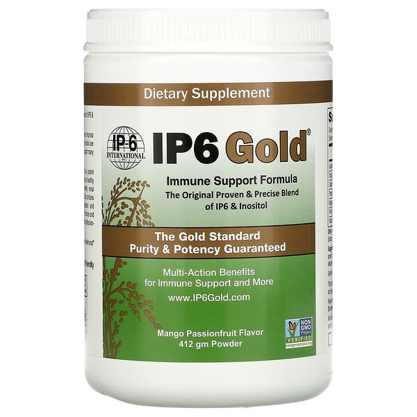 IP6 黄金,机体抵抗支持配方粉,芒果西番莲味,412 克