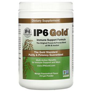 IP-6 International, IP6 Gold, Immune Support Formula Powder, Mango Passionfruit, 412 gm'