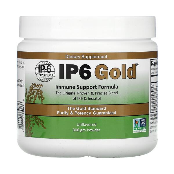 IP6 Gold, Immune Support Formula Powder, Unflavored, 308 g