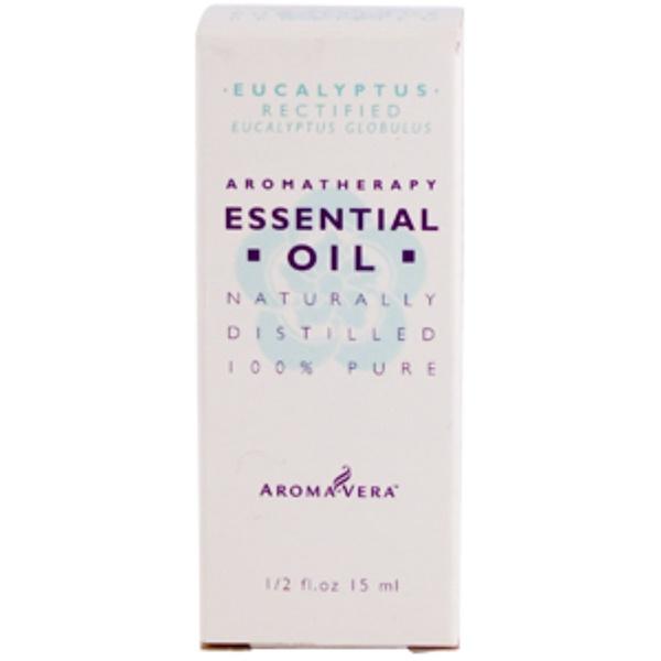Irwin Naturals, Aroma Vera, Eucalyptus Rectified, Essential Oil, 1/2 fl oz (15 ml) (Discontinued Item)