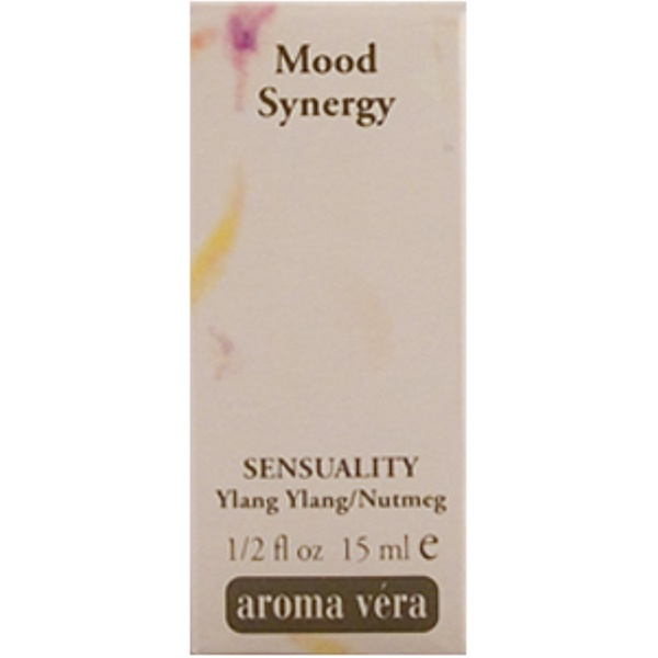 Irwin Naturals, Aroma Vera, Mood Synergy, Sensuality, Ylang Ylang/Nutmeg, 1/2 fl oz (15 ml) (Discontinued Item)