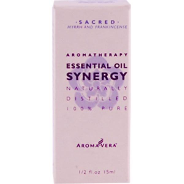 Irwin Naturals, Aroma Vera, Essential Oil Synergy, Sacred, 1/2 fl oz (Discontinued Item)