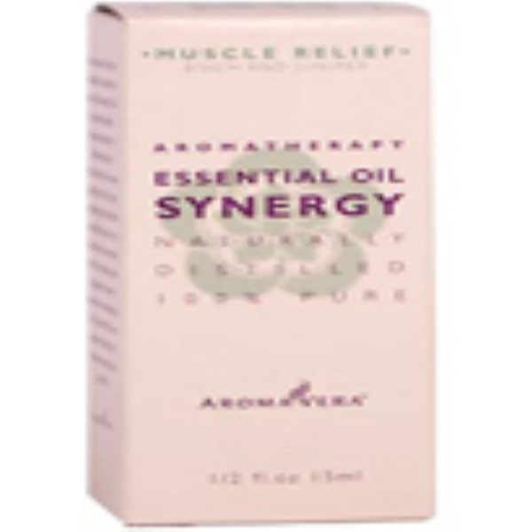 Irwin Naturals, Aroma Vera, Essential Oil Synergy, Muscle Relief, Birch & Juniper, 1/2 fl oz (15 ml) (Discontinued Item)