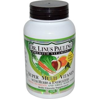 Irwin Naturals, Dr. Linus Pauling, Super Multivitamínico, com Ervas e Energizantes, 120 Cápsulas