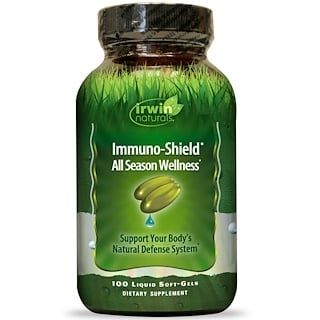 Irwin Naturals, Immuno-Shield, All Season Wellness, 100 Liquid Soft-Gels