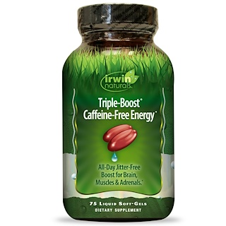 Irwin Naturals, Triple-Boost Caffeine-Free Energy, 75 Liquid Soft-Gels