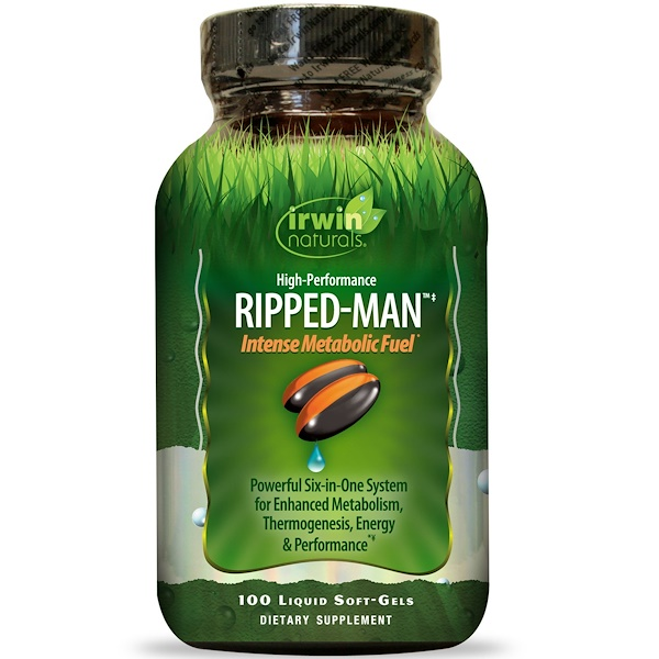 Irwin Naturals, Ripped-Man, Intense Metabolic Fuel, High-Performance, 100 Liquid Soft-Gels (Discontinued Item)