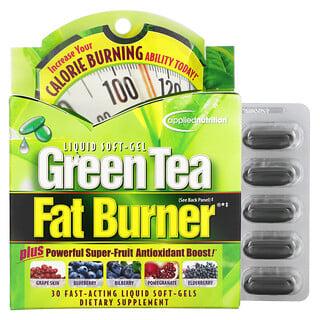 appliednutrition, Chá Verde Para Queimar Gordura, 30 Softgel Líquidos de Ação Rápida