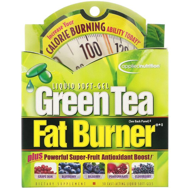 Green Tea Fat Burner, 30 Fast-Acting Liquid Soft-Gels