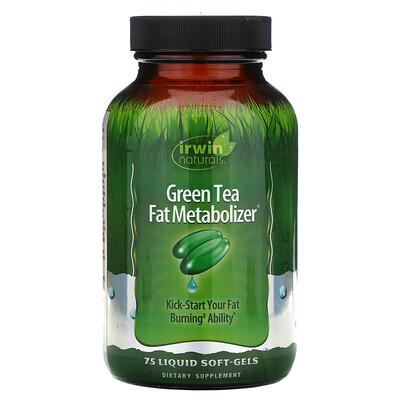 Купить Irwin Naturals Зеленый Чай, Метаболайзер Жиров 75 жидких гелевых капсул
