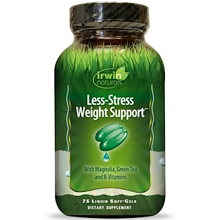 Irwin Naturals, Less-Stress Weight Support, 75 Liquid Soft-Gels