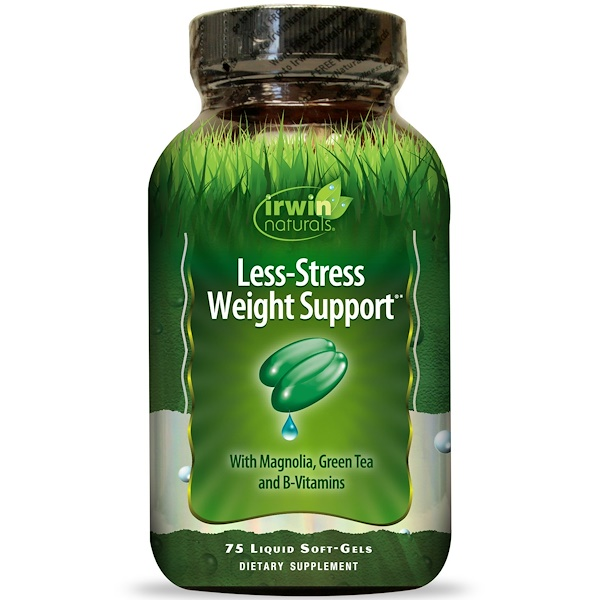 Irwin Naturals, Less-Stress Weight Support, 75 Liquid Soft-Gels (Discontinued Item)