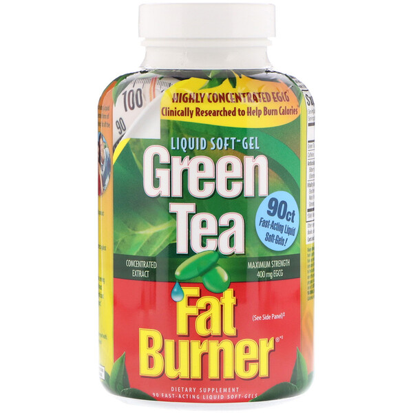 Green Tea Fat Burner, 90 Fast-Acting Liquid Soft-Gels