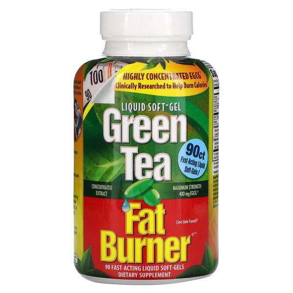 appliednutrition, حارق الدهون بالشاي الأخضر، 90 كبسولة سريعة المفعول