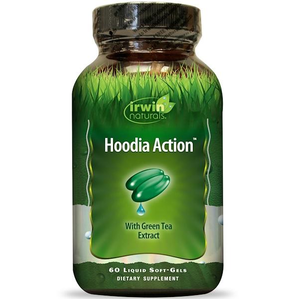 Irwin Naturals, Hoodia Action, with Green Tea Extract, 60 Liquid Soft-Gels (Discontinued Item)