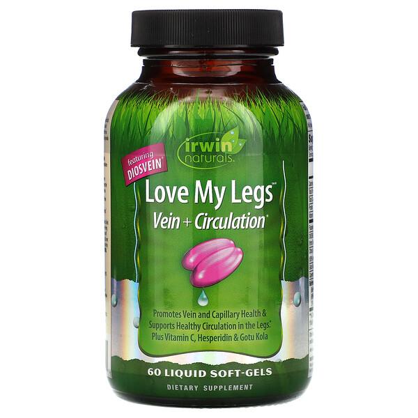 Irwin Naturals, Love My Legs,靜脈 + 迴圈,60 粒液體軟凝膠