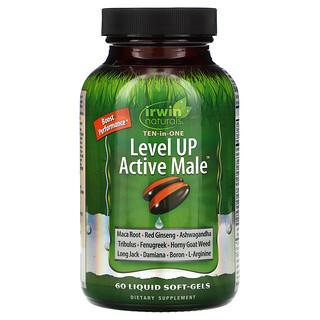 Irwin Naturals, Level Up Active Male، 60 كبسولة جيلاتينية سائلة