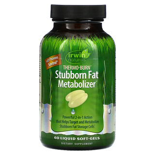Irwin Naturals, Thermo-Burn Stubborn Fat Metabolizer, 60 Liquid Soft-Gels