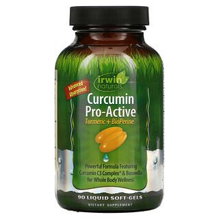 Irwin Naturals, Curcumin Pro-Active, Turmeric + BioPerine, 90 Liquid Soft-Gels