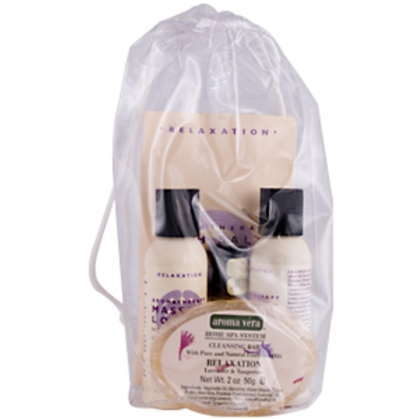 Irwin Naturals, Aroma Vera, Combo Spa in a Bag Relaxation, Lavender & Tangerine, 5pc. (Discontinued Item)