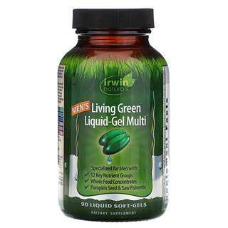 Irwin Naturals, Men's Living Green Liquid-Gel Multi, 90 Liquid Soft-Gels