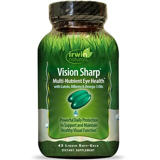 Irwin Naturals, Vision Sharp, Multi-Nutrient Eye Health, 42 Liquid Soft-Gels