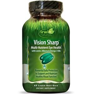 Ирвин Натуралс, Vision Sharp, Multi-Nutrient Eye Health, 42 Liquid Soft-Gels отзывы