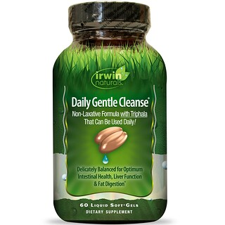 Irwin Naturals, Daily Gentle Cleanse, 60 Liquid Soft-Gels