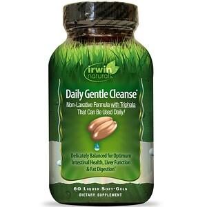 Ирвин Натуралс, Daily Gentle Cleanse, 60 Liquid Soft-Gels отзывы покупателей