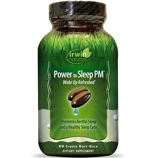 Irwin Naturals, Сила сна PM, 60 мягких капсул с жидкостью