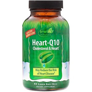 Ирвин Натуралс, Heart-Q10, Cholesterol & Heart, 84 Liquid Soft-Gels отзывы покупателей