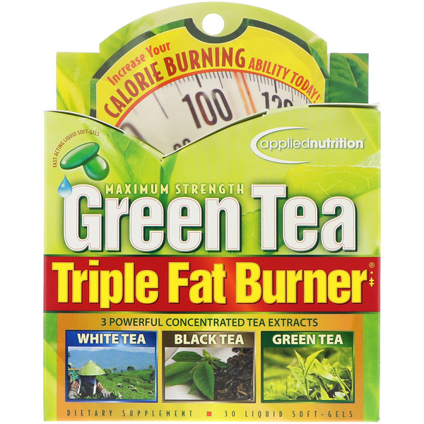 appliednutrition, Green Tea Triple Fat Burner, 30 Liquid Softgels