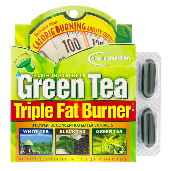 Green Tea Triple Fat Burner, 30 Liquid Softgels