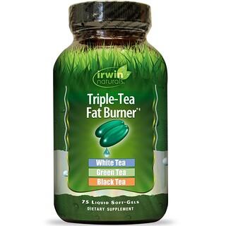 Irwin Naturals, Triple-Tea Fat Burner, 75 Liquid Softgels
