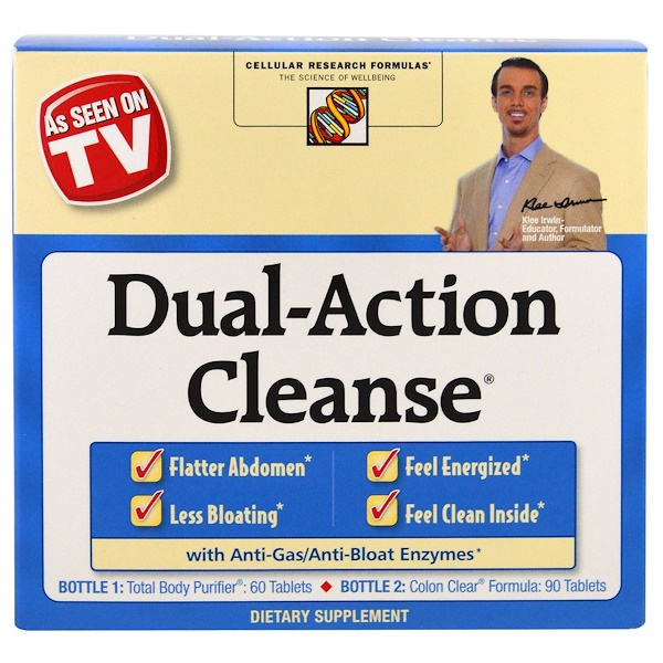 Irwin Naturals, Dual-Action Cleanse , 2 Piece Kit (Discontinued Item)