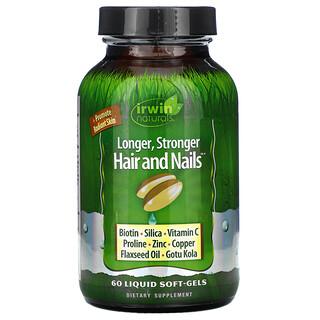 Irwin Naturals, Longer, Stronger Hair and Nails, 60 Liquid Soft-Gels
