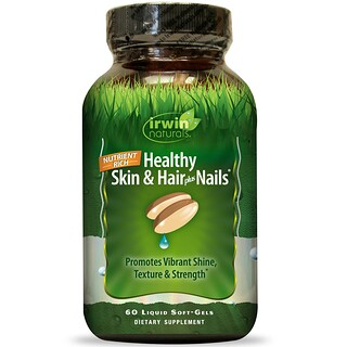 Irwin Naturals, Healthy Skin & Hair Plus Nails, 60 Liquid Soft-Gels