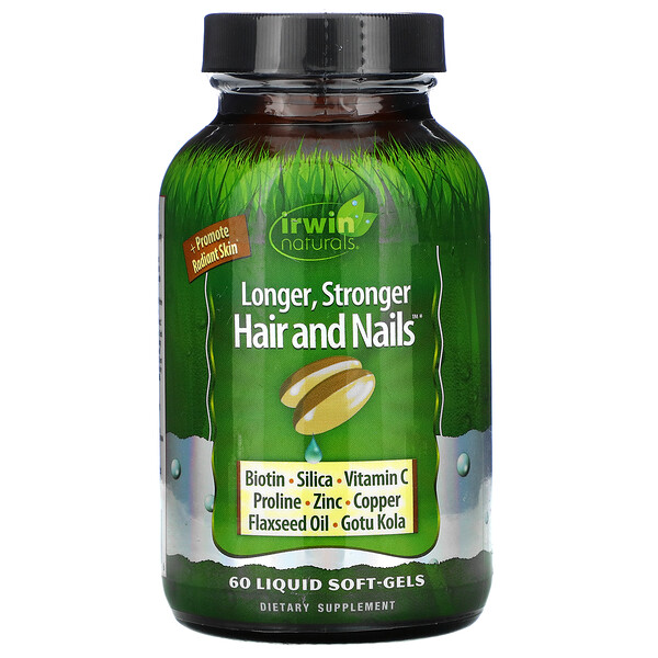 Longer, Stronger Hair and Nails, 60 Liquid Soft-Gels