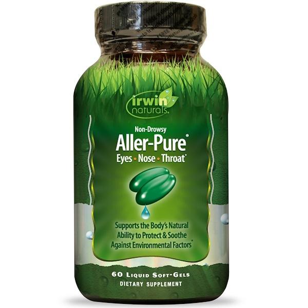 Irwin Naturals, Aller-Pure, 60 cápsulas blandas líquidas (Discontinued Item)