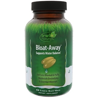 Irwin Naturals, Bloat-Away, 60 Liquid Soft-Gels