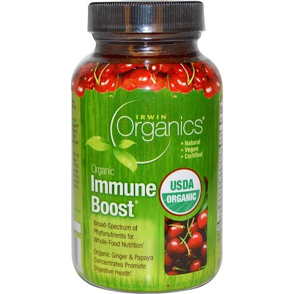 Irwin Naturals, Organics, Organic Immune Boost, 60 Tablets (Discontinued Item)